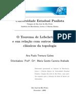 O Teo de Lefschetz-Hopf e sua relação com outros teo  clássicos da top