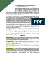 Resumen de Política Administrativa de Poderes de Policia y Facultades de Polícia