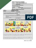 GUIA DE ESTUDIO # 2-1  DILEMAS DE LA COTIDIANIDAD