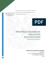 PRINCIPALES ELEMENTOS DE LAS TEORÍAS EN LA PSICOLOGÍA