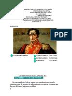 Pensamiento Bolivariano III
