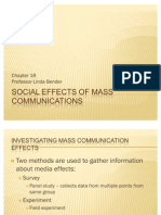 Ch 18 Social Effects of Mass Communications