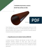 2.6. Especificación de tuberías de procesos y servicio