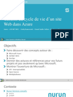 2015-02-Gestionducycledevied'unsiteWebdansAzure-UniversitéLaval
