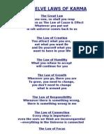 The Twelve Laws of Karma