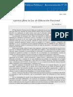 28 DPP R Educacion, Ley de Educacion Nacional, Rivas, 2006