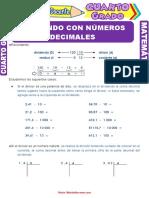 División Con Números Decimales Para Cuarto Grado de Primaria (1)