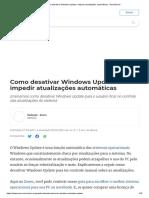 Como Desativar Windows Update e Impedir Atualizações Automáticas - DeUmZoom