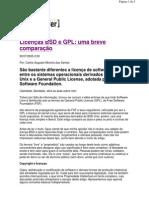 Licença BSD e GPL