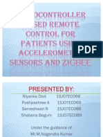 Microcontroller based Remote control for patients using accelerometer