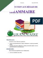 Introduction aux regles de grammaire - cours