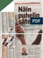 Näin puhelin säteilee - SAR-arvot - Ilta-Sanomat 19-08-2010