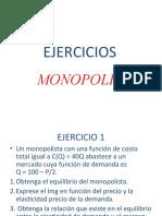 Ejercicios del Monopolio