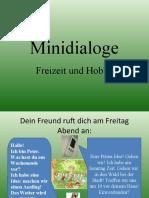 Minidialoge Freizeit Und Hobby Aktivitatskarten Rollenspiel Drama Schauspiel Thea 19001