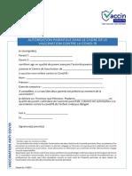 Autorisation Parentale Vaccin Covid-19