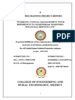 Sequenced Corrected Harshika Cert Mba 2021 Summer Training Project Report