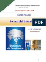 01 - Cours - Bourse Casa - 2020