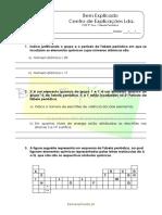 C.2.1 - Tabela periódica dos elementos  - Ficha de Trabalho (2)