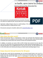 Kotak Assured Insurance Plan