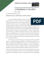CARTA DE LA COMUNIDAD CAMPESINA DE CONCHAMARCA