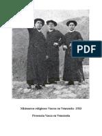 Misioneros Religiosos Vascos en Venezuela -1933
