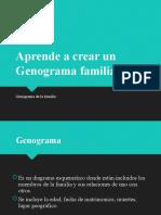 Aprende a hacer genogramas familiares