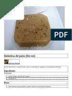 Gelatina de Pata