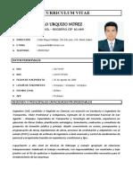 CURRICULUM VITAE LUIS PAULO URQUIZO NUÑEZ - No documentado