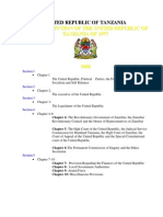 Constitution of the United Republic of Tanzania