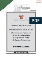 Directiva que regula los Actos de Adquisición y Disposición Final de Bienes Inmuebles