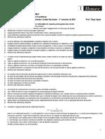 Quarta Lista de Exercícios - Macroeconomia e Contas Nacionais (1.2021)