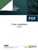 Notas Estatisticas Censo Da Educacao Superior 2019