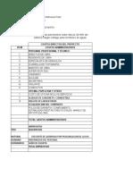 Estudio de caso AIU en el presupuesto de construcción Indirectos