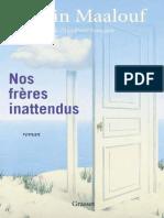 Amin Maalouf â__ Nos frères inattendus (2020)