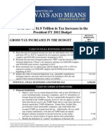 Obama Tax Increases Revenue Raisers Overview FY12Budget