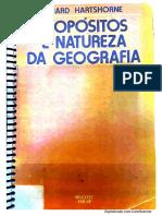 HARTSHORNE, R. Propósitos e Natureza Da Geografia