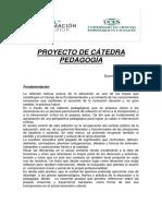 Proyecto de catedra Pedagogía