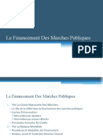 Le Financement Des Marches Publiques