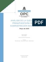 Analisis de La Ejecucion Presupuestaria de La Administracion Nacional Mayo 2021
