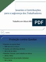 NR 35 - Pontos relevantes e contribuções para a segurança dos trabalhadores - Trabalho em altura - 03450 [ E 2 ]