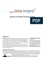 Optima impro capability statement for internal audit