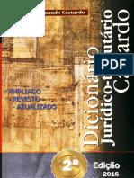 DICIONÁRIO JURÍDICO-TRIBUTÁRIO CASTARDO - 2ª EDIÇÃO - 2016