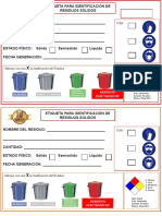 Etiqueta para la entrega de Residuos