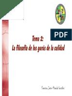 Principales filosofías de Calidad Juran, Deming y Crosby (1)