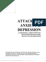 Attacking Anxiety & Depression Workbook (2001); 6.0