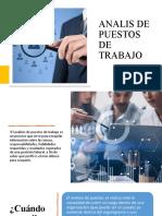 ANALISIS DE LOS PUESTOS DE TRABAJO (PARTE1)