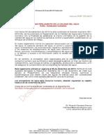 Reglamento de la Calidad de Agua para Consumo Humano - Decreto Supremo 031-2010-SA