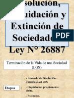 Disolución y Liquidacion y Extincion de Sociedades Ppt