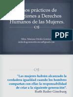CASOS PRACTICOS DE LA VIOLENCIA HACIA LA MUJER- PRIMERA PARTE
