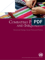 COMBATING POVERTY AND INEQUALITY Structural Change, Social Policy and Politics